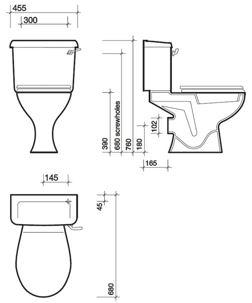 Technical drawing 13868 / OT1148WH