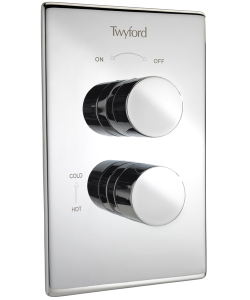 Twyford X120 Recessed Dual Control Thermostatic Shower Valve