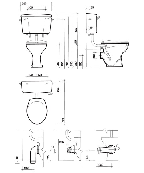 Technical drawing 7601 / CC1138WH