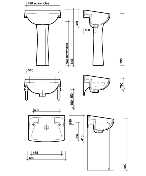 Technical drawing 7603 / CC4212WH