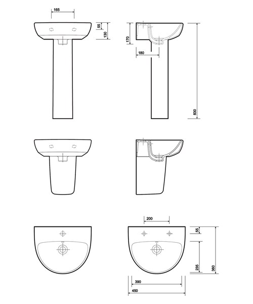 Technical drawing 40367 / E14841WH