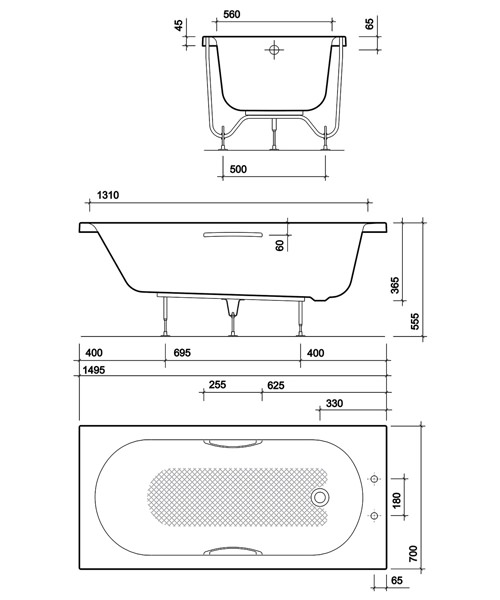 Technical drawing 40620 / OL8200WH