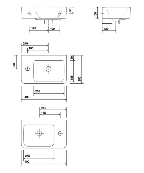 Technical drawing 40425 / E24815WH