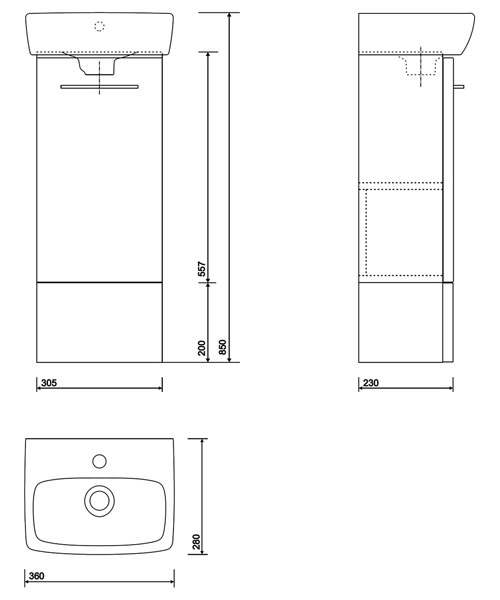Technical drawing 40568 / E10372WH