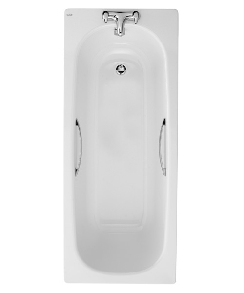 Twyford Celtic Plain Steel Single Ended Bathtub With Legs And Grips