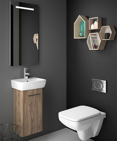 Twyford E100 Square 305mm Unit For 360mm Single Or Two Hole Washbasin
