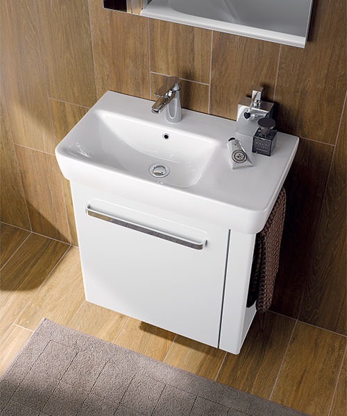 Additional image of Twyford E200 650 x 370mm 1 Tap Hole Washbasin With Right Hand Shelf