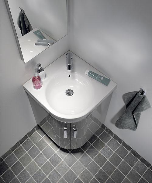 Additional image of Twyford E200 69cm Grey Corner Unit And 50cm Handrinse Basin