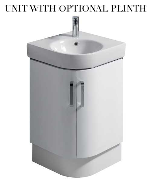 Additional image of Twyford E200 690mm Corner Cabinet And 500mm Handrinse Washbasin