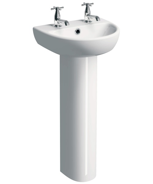Additional image of Twyford E100 Round 450 x 360mm Washbasin