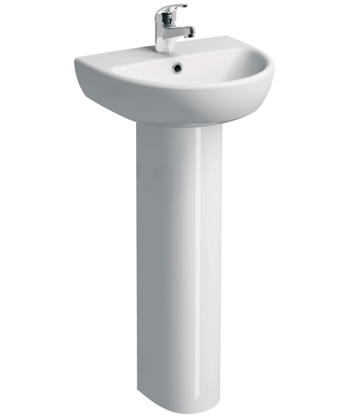 Twyford E100 Round 450 x 360mm Washbasin