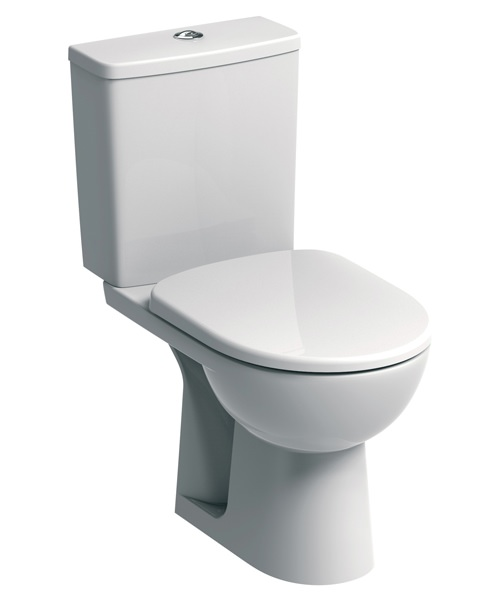 Twyford E100 Square Standard Close Coupled WC Pan And Cistern 670mm