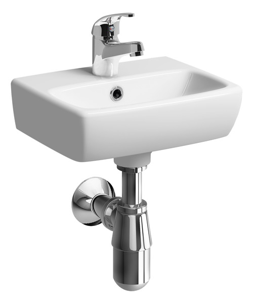 Twyford E100 Square Single Tap Hole 360 x 280mm Handrinse Sink