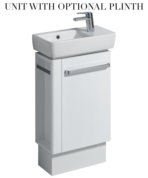 Additional image of Twyford E200 448mm White Unit And 500mm Basin With LH Bowl And RH Tap Hole