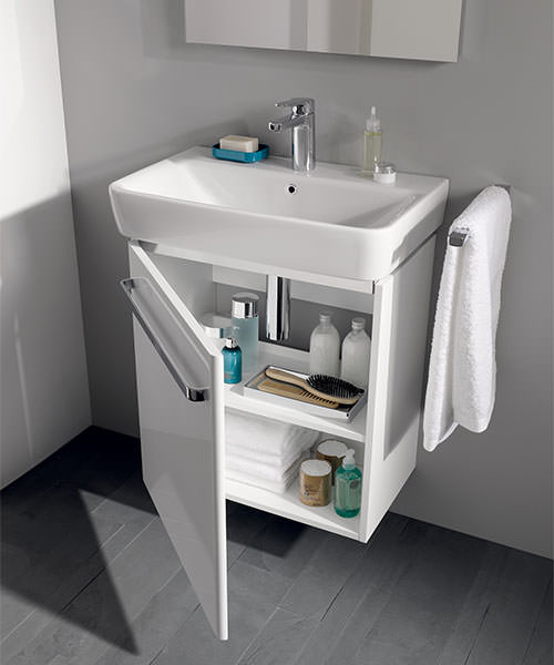 Additional image of Twyford E200 550mm White Unit For 600mm 1 Or 2 Tap Hole Basin
