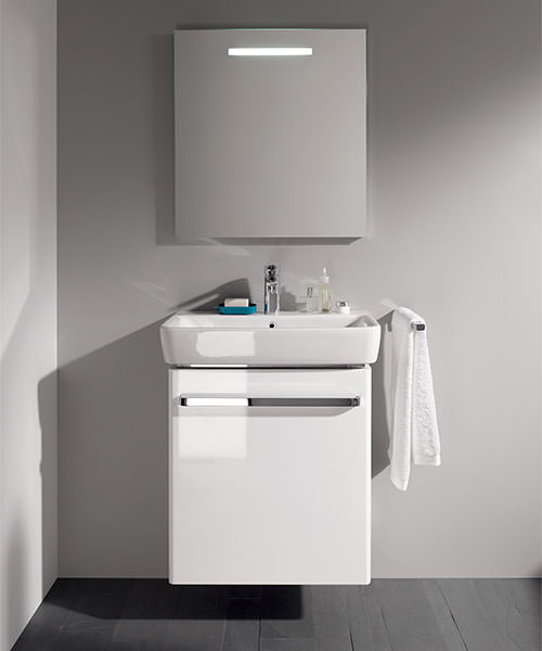 Alternate image of Twyford E200 550mm White Unit For 600mm 1 Or 2 Tap Hole Basin