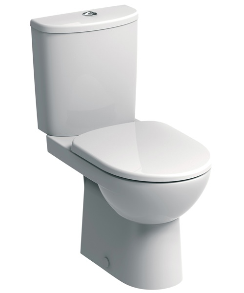 Twyford E100 Round Premium Close Coupled WC Pan And Cistern 680mm