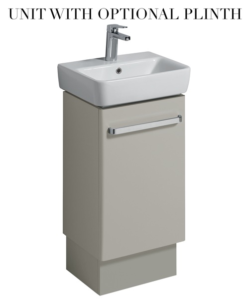 Additional image of Twyford E200 40cm Grey Unit For 45cm Single Or Two Tap Hole Washbasin