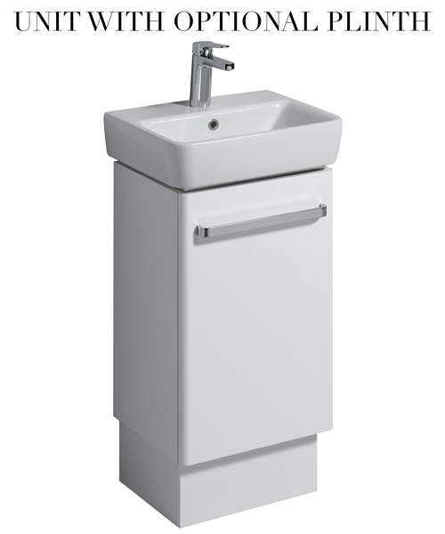 Additional image of Twyford E200 400mm White Cabinet For 450mm 1 Or 2 Tap Hole Bathroom Sink