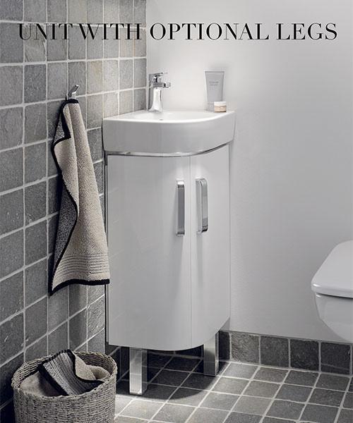 Additional image of Twyford E200 425mm White Corner Unit With 320mm Handrinse Washbasin
