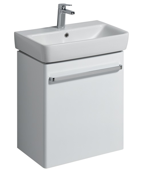 Twyford E200 550mm White Unit For 600mm 1 Or 2 Tap Hole Basin