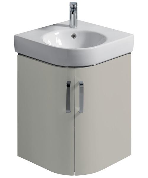 Twyford E200 69cm Grey Corner Unit And 50cm Handrinse Basin