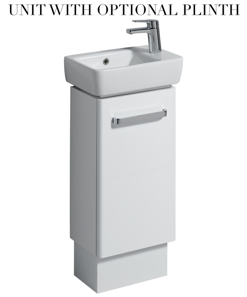 Additional image of Twyford E200 348mm White Unit And 400mm 1 Right Hand Tap Hole Basin