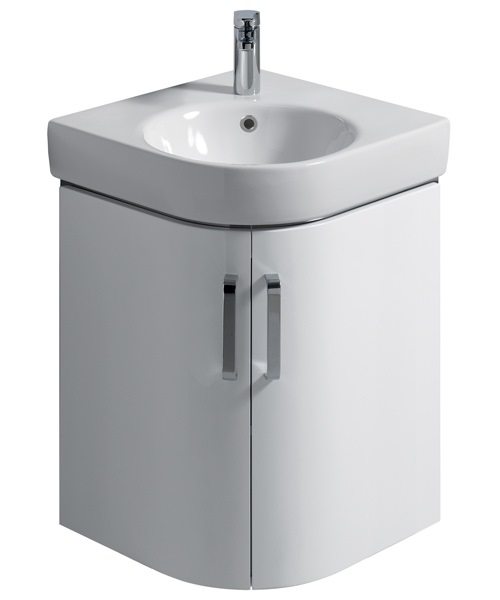twyford e200 690mm white corner unit and 500mm handrinse basin. Black Bedroom Furniture Sets. Home Design Ideas