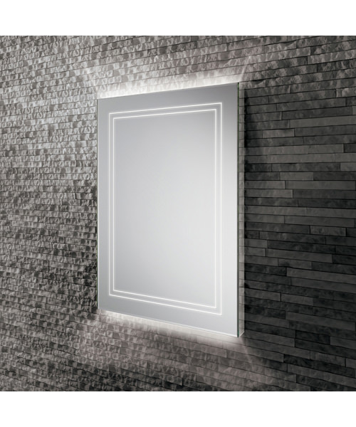 HiB Outline 50 Bathroom Mirror With Back-Lit LED - W 500 x H 700mm