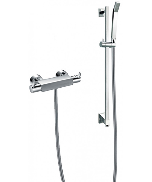 Flova Str8 Exposed Thermostatic Bar Valve With Slide Rail Kit