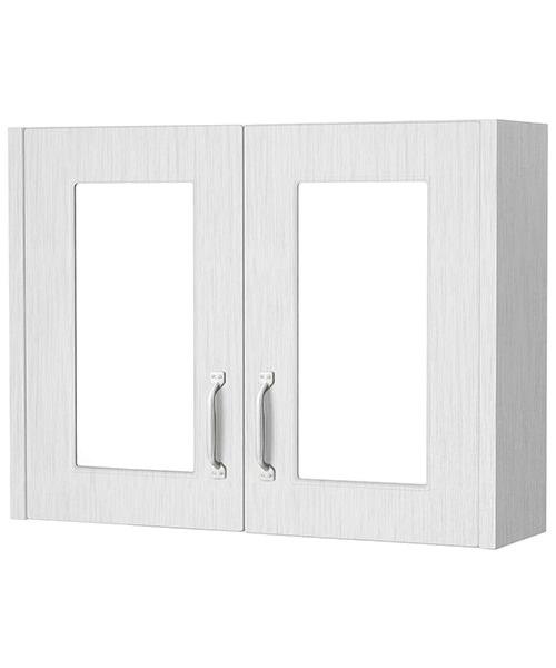Nuie York 790mm Wide 2 Door Mirror Cabinet