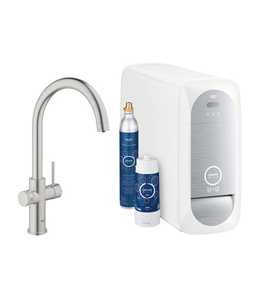 grohe blue home kitchen sink mixer tap with filter function 31455dc0. Black Bedroom Furniture Sets. Home Design Ideas