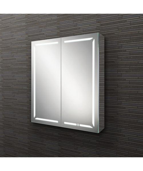 HIB Groove 60 Double Door Illuminated Bluetooth Cabinet 600 x 700mm
