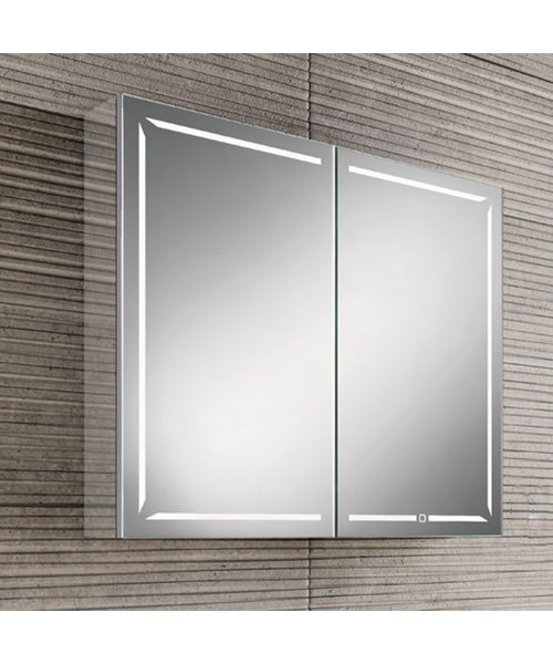 Additional image of HIB Groove 60 Double Door Illuminated Bluetooth Cabinet 600 x 700mm