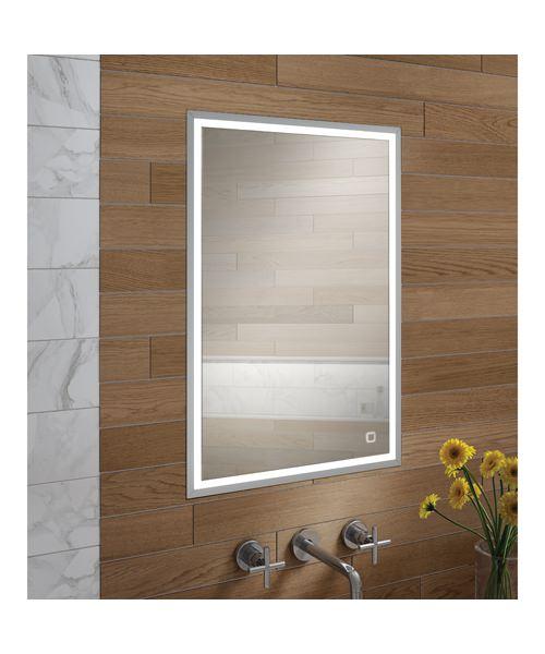 HIB Vanquish 50 Single Door LED Demisting Recessed Cabinet 530 x 730mm