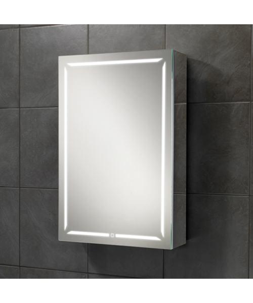 HIB Groove 50 Single Door LED Demisting Bluetooth Cabinet 500 x 700mm