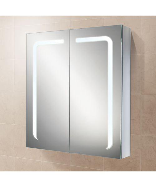 HIB Stratus 60 LED Demisting Double Door Aluminium Cabinet 600 x 700mm