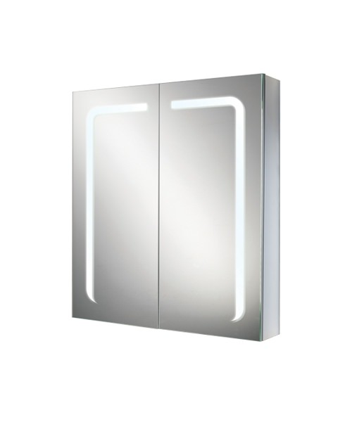 Additional image of HIB Stratus 60 LED Demisting Double Door Aluminium Cabinet 600 x 700mm