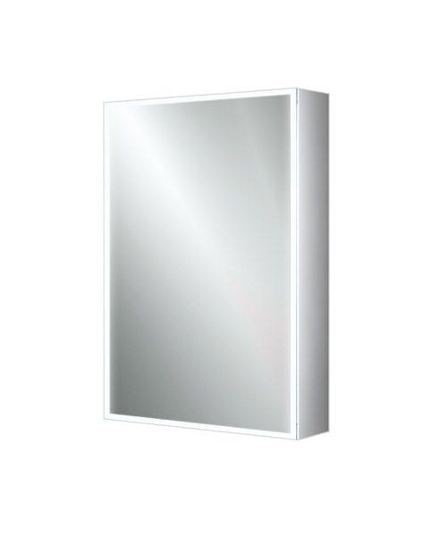 HIB Qubic 50 Single Door LED Illuminated Aluminium Cabinet 500 x 700mm
