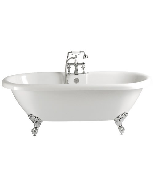 Heritage Baby Oban 163 Litres Freestanding 1495 x 795mm Double Ended Bath With Feet