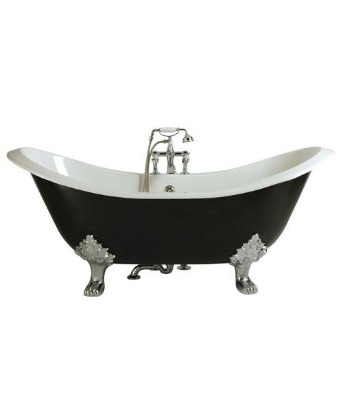 Heritage Devon 2 Taphole Cast Iron Bath With Feet 1800 x 770mm
