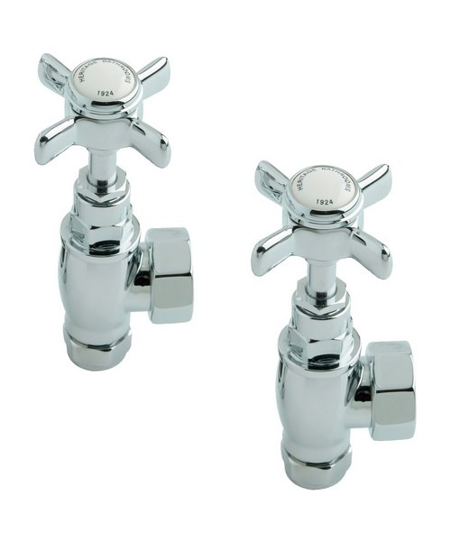 Heritage Pair of Traditional Valves In Chrome Finish