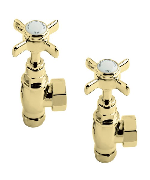 Heritage Pair of Traditional Valves In Vintage Gold Finish