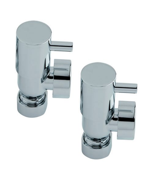 Heritage Contemporary Design Pair Of Lever Valves In Chrome Finish