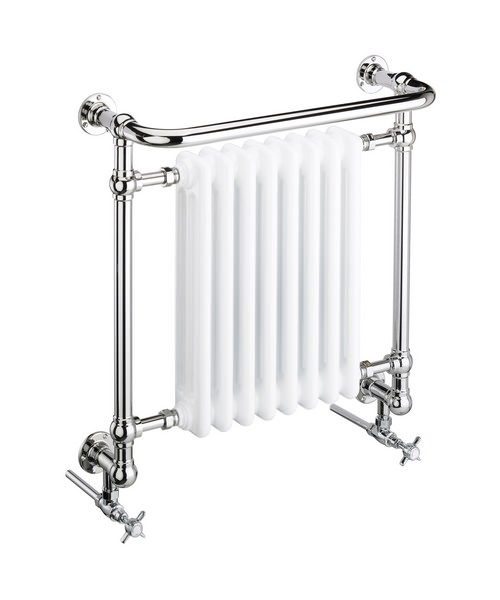 Heritage Clifton Wall Hung Heated Towel Rail 675 x 736mm