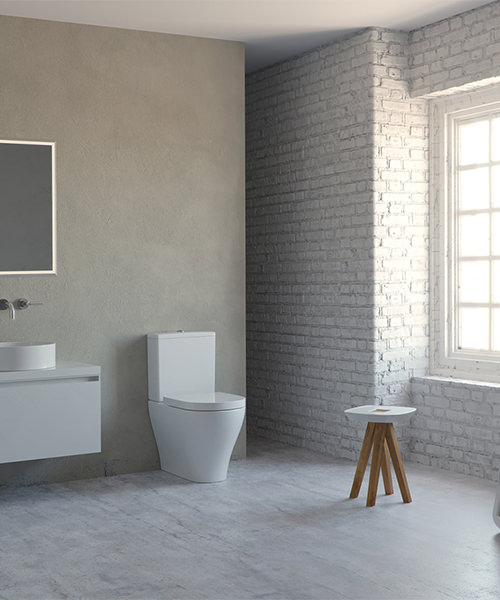Additional image of Saneux Prague Rimless Close Coupled WC Pan With Cistern
