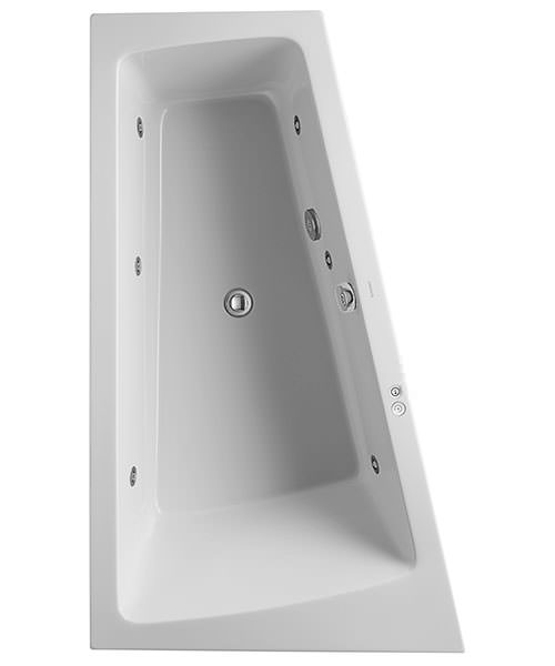 Duravit Paiova Built In Bath With One Backrest Slope - Various Sizes Available