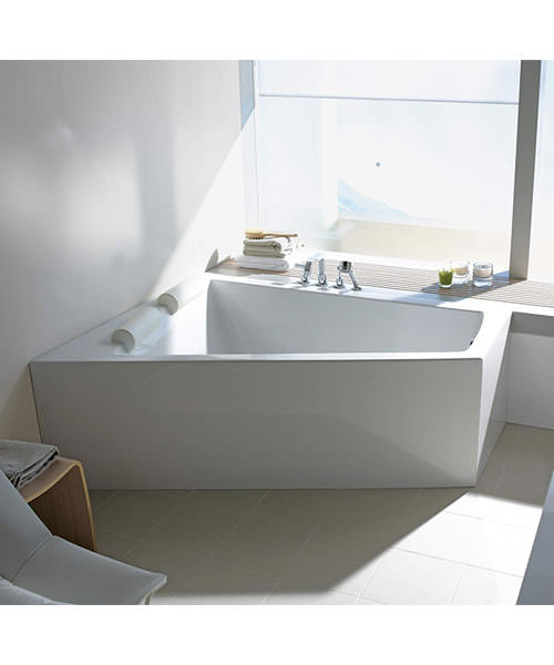 Alternate image of Duravit Paiova Bath With Panel And Support Frame