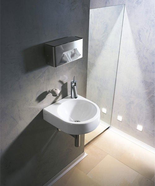 Additional image of Duravit Architec Handrinse Basin With 1 Tap Hole On Left Side - W 360 x D 380mm