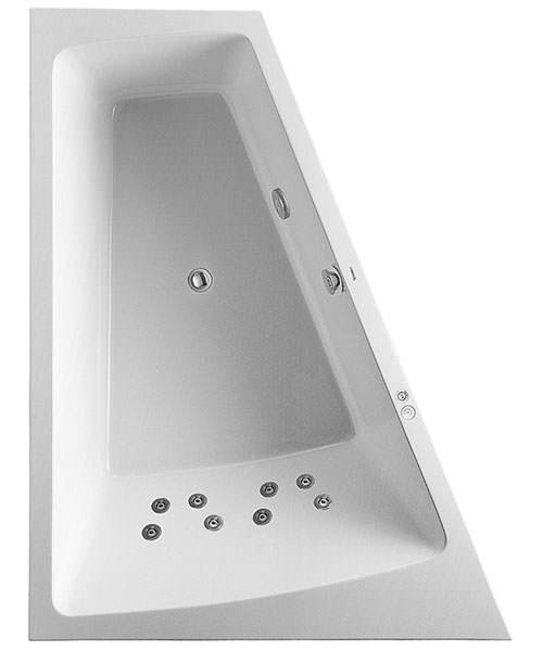 Duravit Paiova 1700 x 1300mm Built In Left Slope Bath With Jet System
